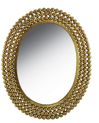 Oval Nailhead Mirror