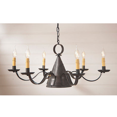 Madison Chandelier in Blackened Tin