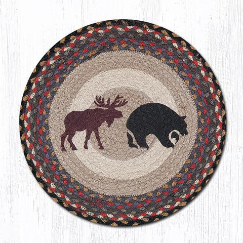 CH-043 Bear/Moose Printed Chair Pad