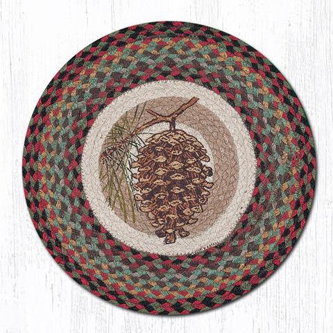 CH-081 Pinecone Printed Chair Pad