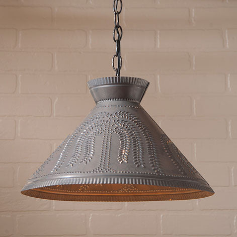 Roosevelt Shade Light with Willow in Blackened Tin