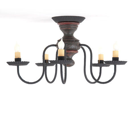Thorndale Ceiling Light in Americana Colors with 5 Color Choices