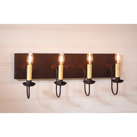 4-Arm Vanity Light - Hartford Series in 6 Color Choices