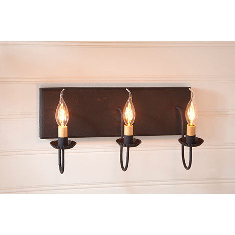 3-Arm Vanity Light - Hartford Series in 6 Color Choices