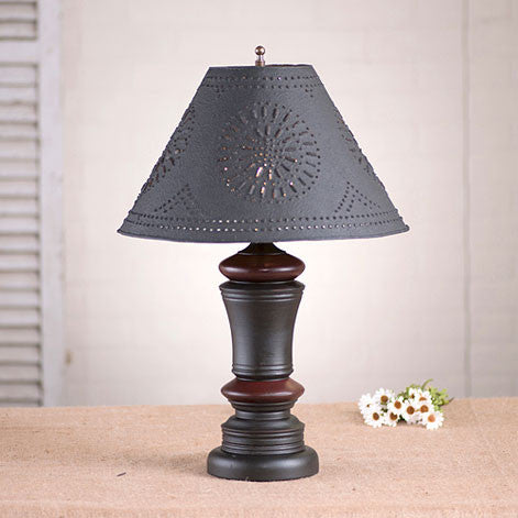 Peppermill Lamp with Shade - Sturbridge Black