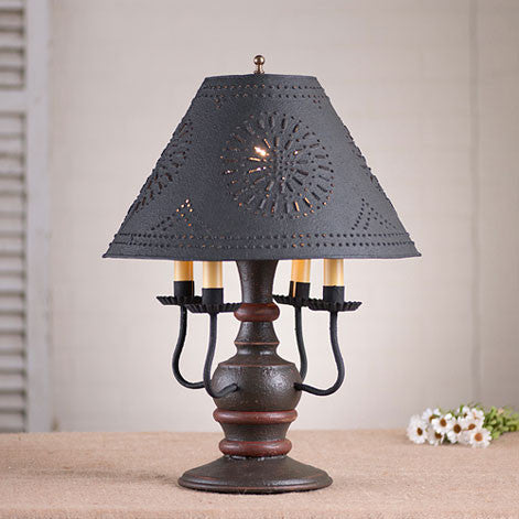 Cedar Creek Lamp with Shade - Americana Series in 5 Color Choices