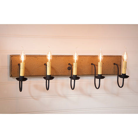 Five-Arm Vanity Light - Americana Series in 5 Color Choices