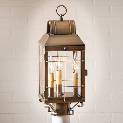 Martha's Post Lantern. Outdoor Light. 2 Color Choices