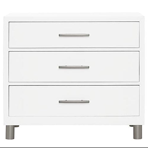 Evolur Loft Art Deco 3 Drawer Chest