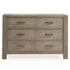 Natart Rustico 6 Drawer Double Dresser