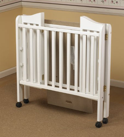 Orbelle Noa Three Level Portable Crib, White