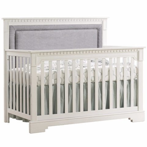 Natart Ithaca ''5-in-1'' Convertible Crib With Upholstered Panel