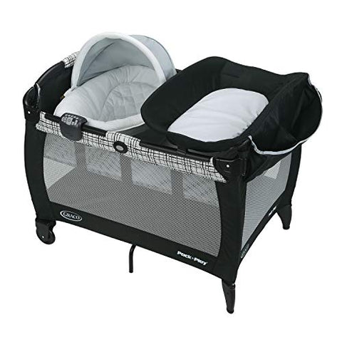 Graco Pack 'n Play Playard Newborn Seat Oasis with Soothe Surround, Teigen