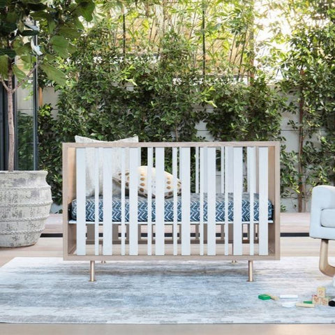 Nursery Works Novella Crib Stained Ash/ Ivory