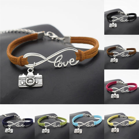 Photograph Camera Leather Bracelets