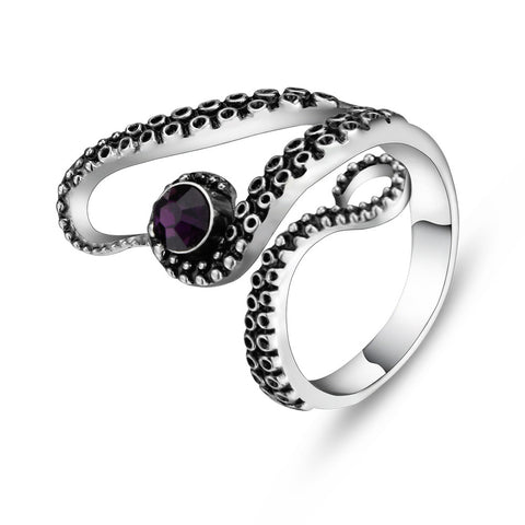 Beautiful Titanium Octopus Ring