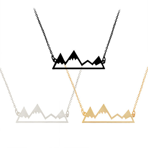 Cute Mountain Hiking Necklace