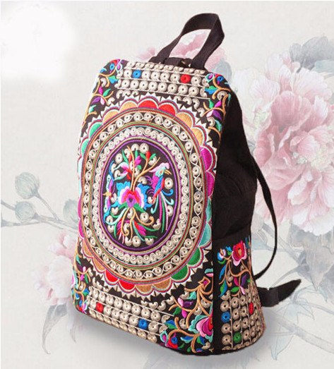 Backpack - New Handmade Vintage Embroidered Backpack