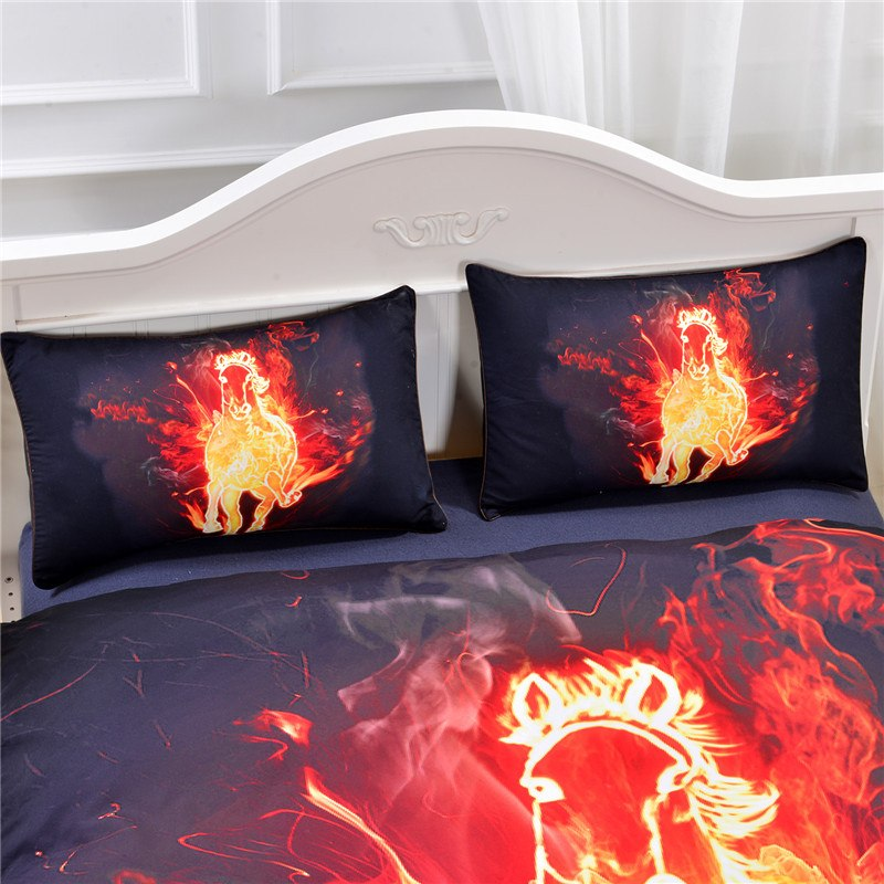 Bedding Set - Fire Horse 3D Bedding Set