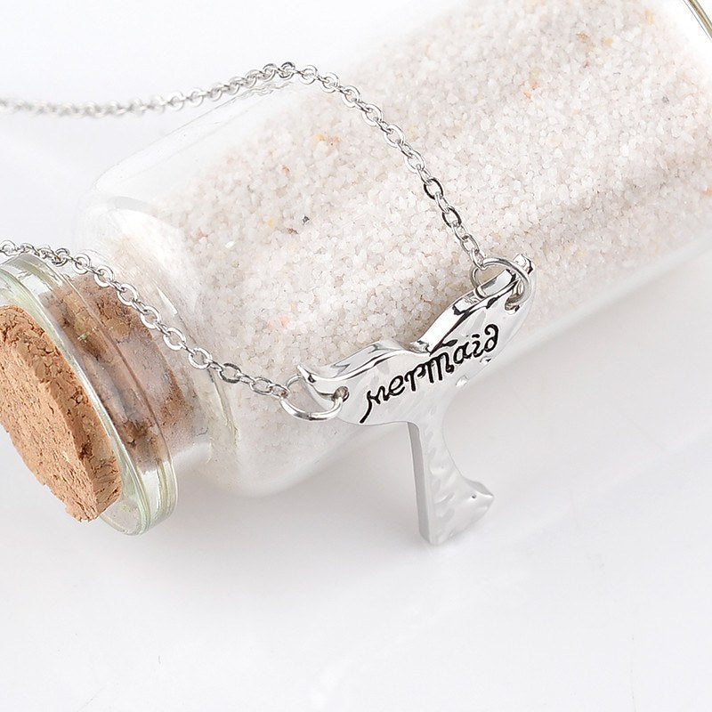 Chain Necklaces - Beautiful Mermaid Tail Charm Necklace