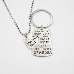 Necklace - Daddy's Girl Necklace + Daddy Key Chain (entire Family Available)