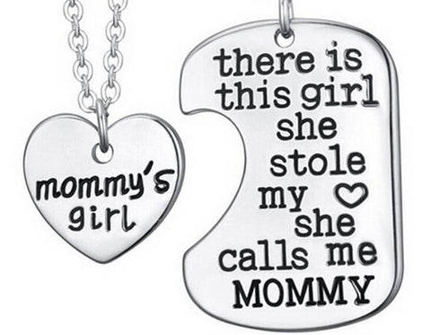 Necklace - Daddy's, Mommy's, Grandpa's, Grandma's Girl Necklace + Second Necklace