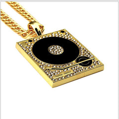 Necklace - DJ Vinyl 18k Gold/Silver Plated Retro Necklace