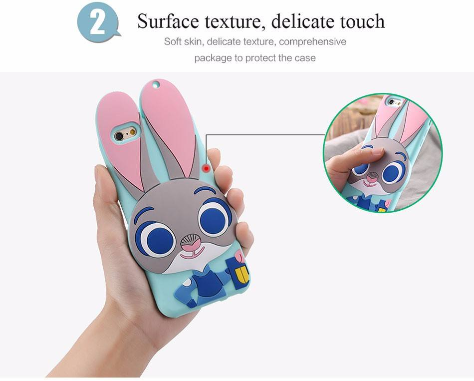 Phone Case - Judy The Rabbit TPU Gel Silicon Phone Case For IPhone And Samsung Phones
