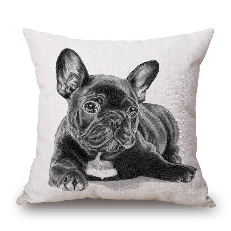 Pillow - French Bulldog Cushion Cotton Pillows
