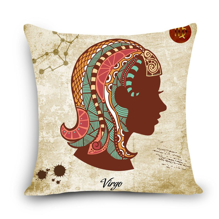 Pillow - Zodiac Home Vintage Cotton Linen Pillowcase
