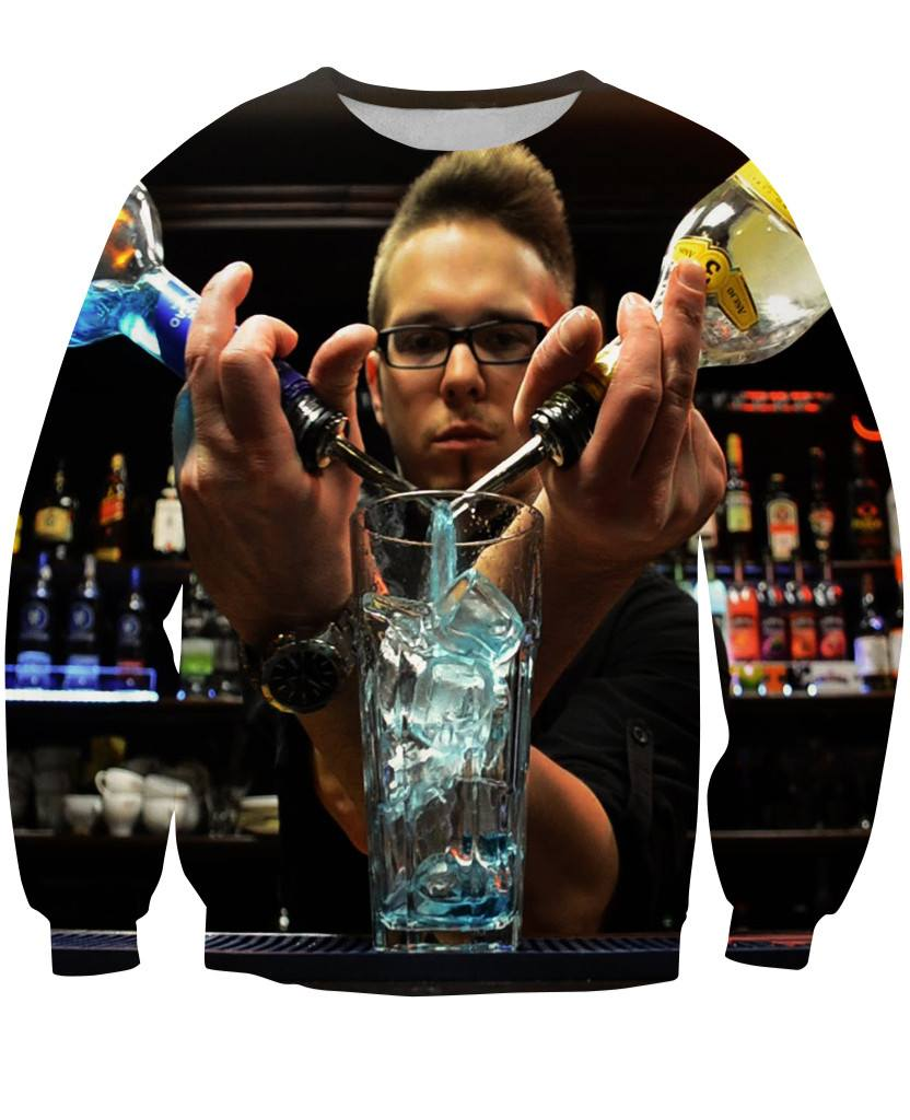Sweatshirt - New Bartender Cocktail 3D Sweatshirt #11