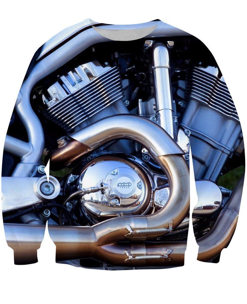 Sweatshirt - New Motorcycle 3D Sweatshirt #1