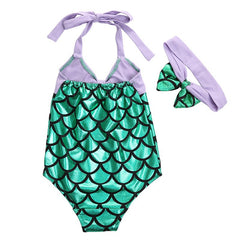 Swimsuit - Fancy Mermaid Girls One Piece Swimsuit