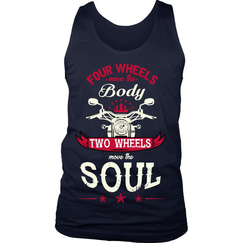 T-shirt - 2 Wheels Move The Soul Tanks, Hoodie