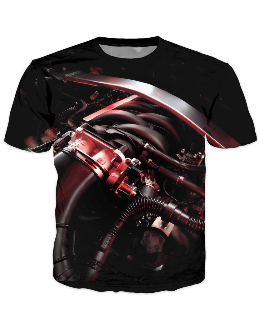 T-shirt - Amazing Auto Engine 3D T-Shirt #68