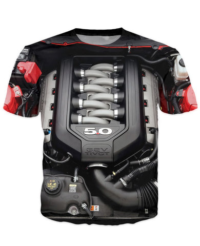 T-shirt - Amazing Auto Engine 3D T-Shirt #71