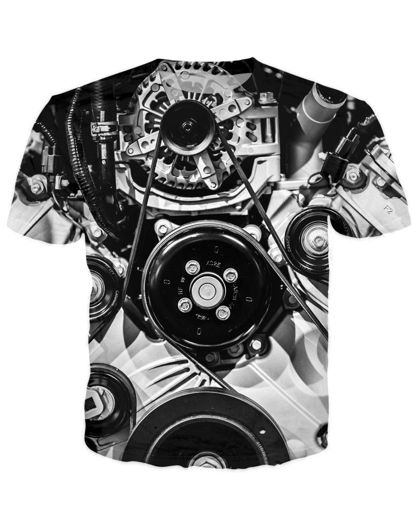 T-shirt - Amazing Auto Engine 3D T-Shirt #75