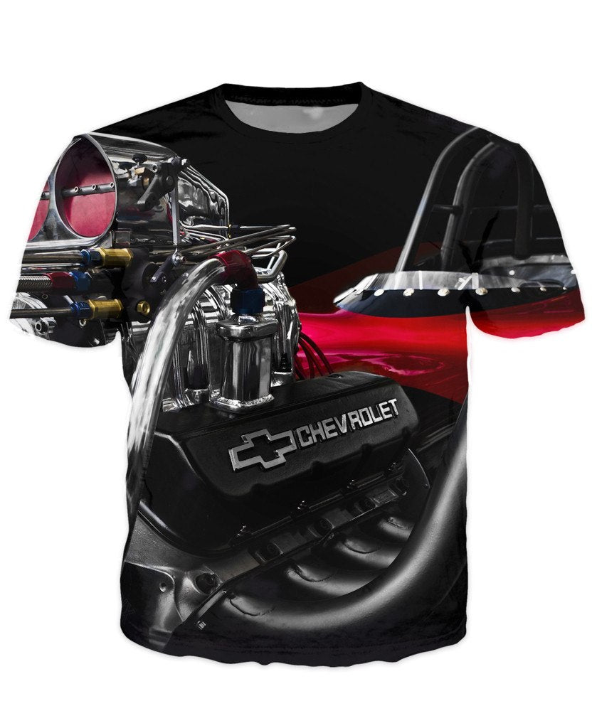T-shirt - Amazing Auto Engine 3D T-Shirt #78