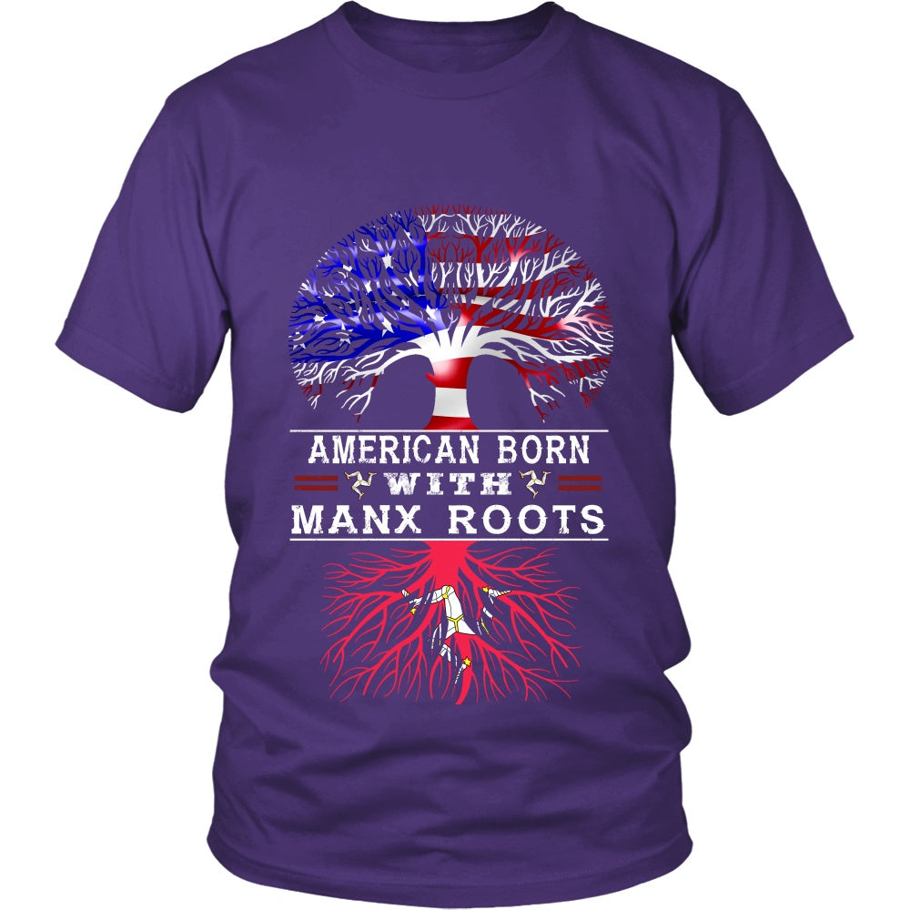 T-shirt - American Born With Manx Roots