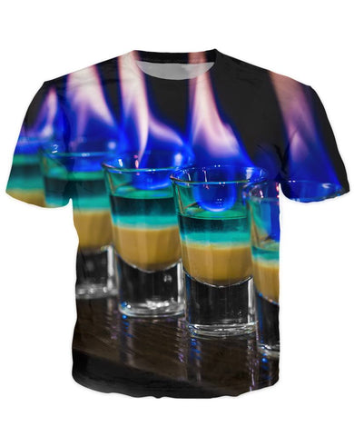 T-shirt - Bar Cocktail 3D T-Shirt #35