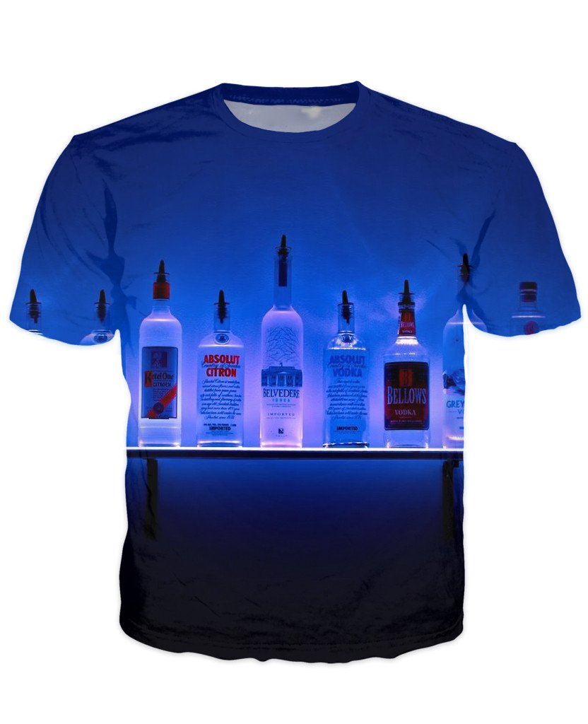 T-shirt - Bar Cocktail 3D T-Shirt #37