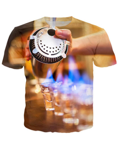 T-shirt - Bar Cocktail 3D T-Shirt #40