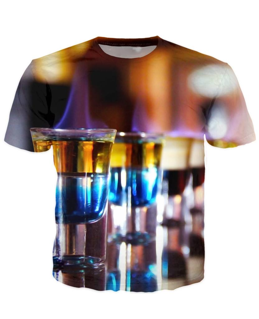 T-shirt - Bar Cocktail 3D T-Shirt #48