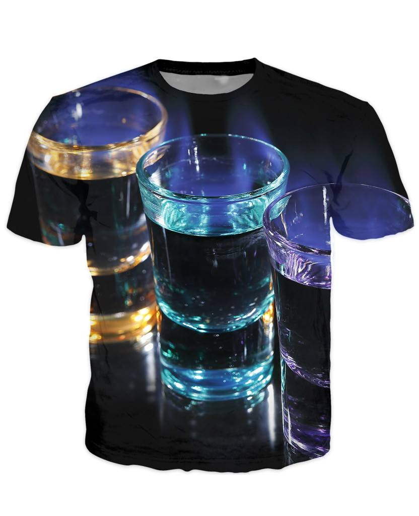 T-shirt - Bar Cocktail 3D T-Shirt #50