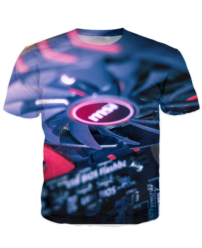 T-shirt - CPU IT Gamer Edition 3D T-Shirt #8