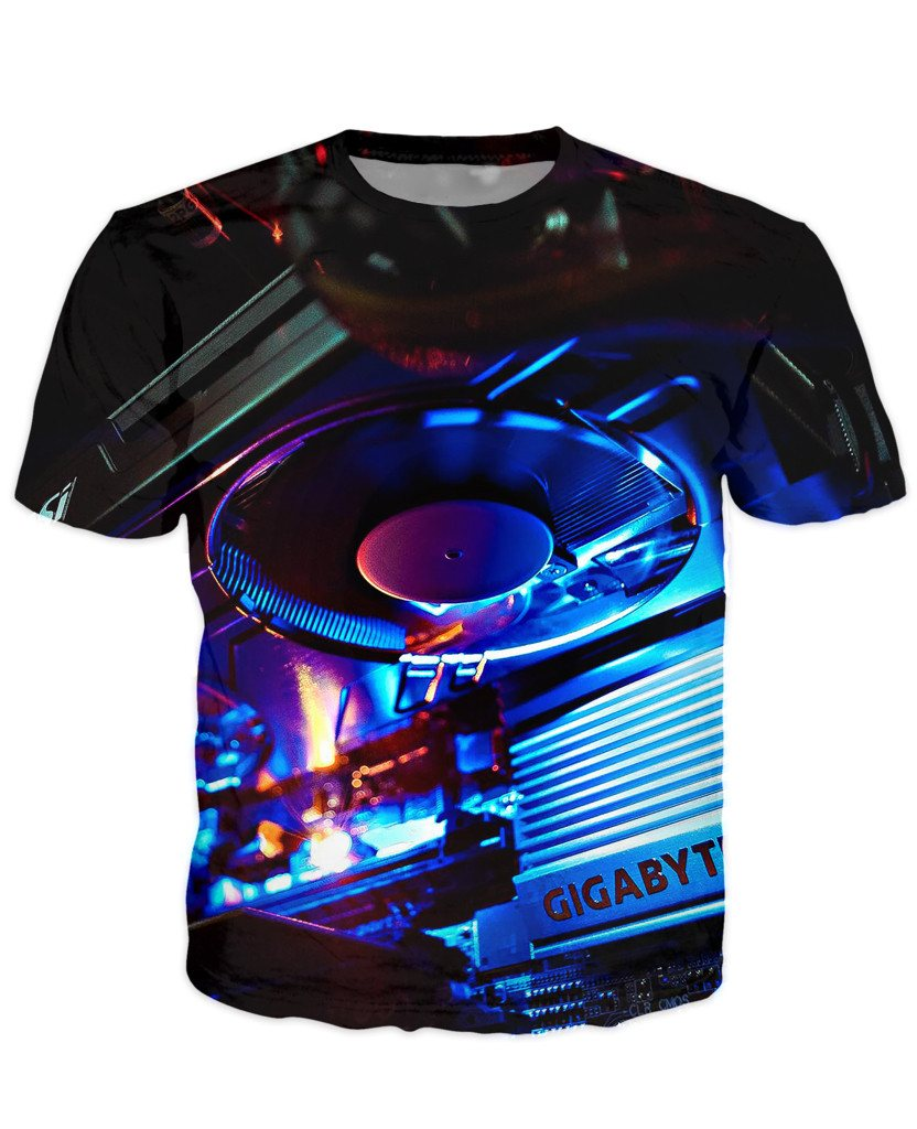T-shirt - CPU IT Gamer Edition 3D T-Shirt #93