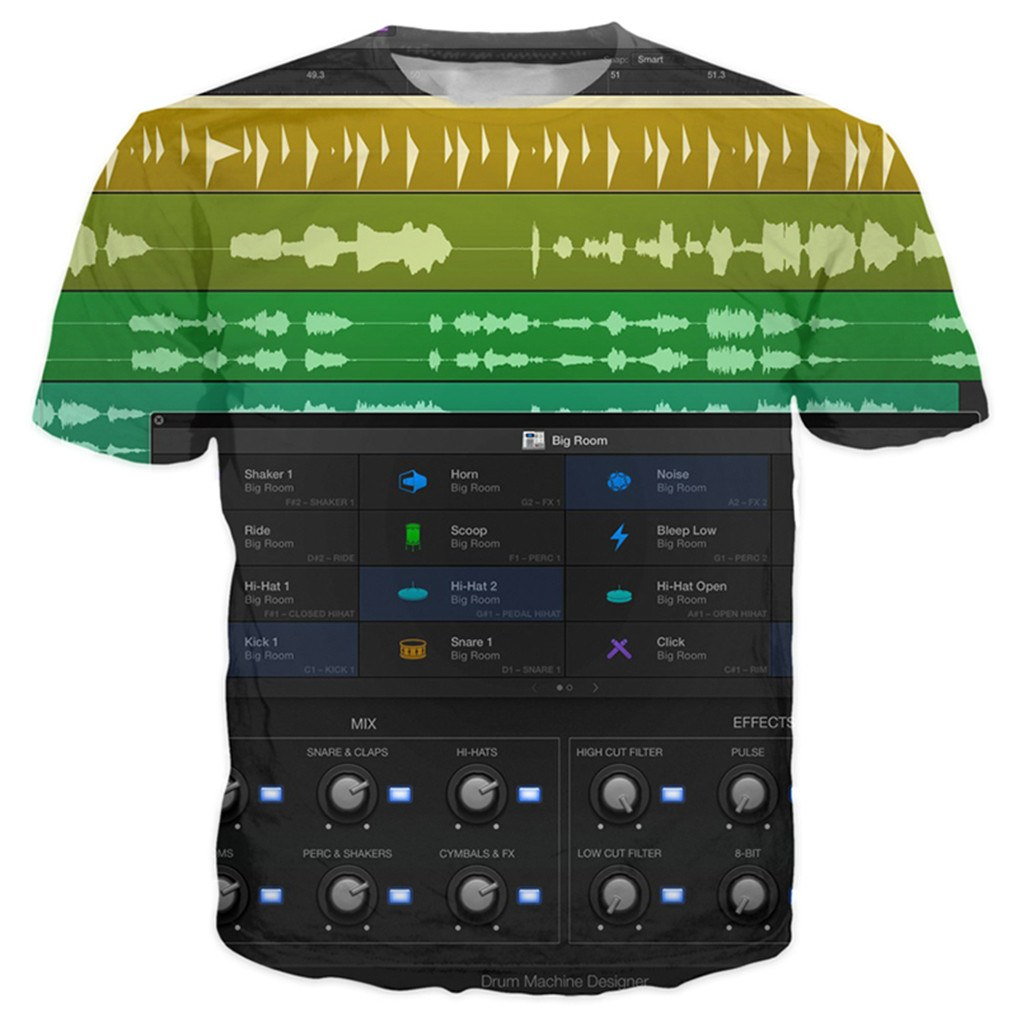 T-shirt - DJ Logic PRO New 3D T-Shirt #1