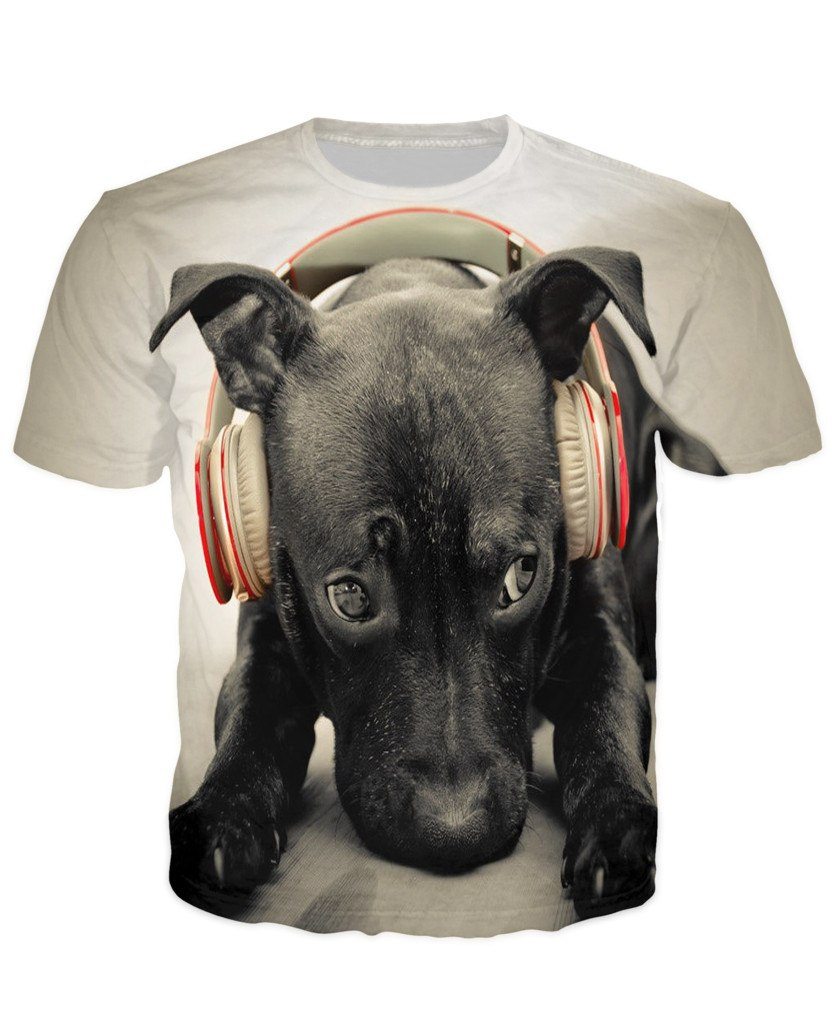 T-shirt - Dog Music Dj 3D T-Shirt #10