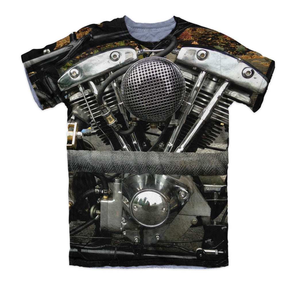 T-shirt - Harley Engine Power Motorcycle 3D T-Shirt #1