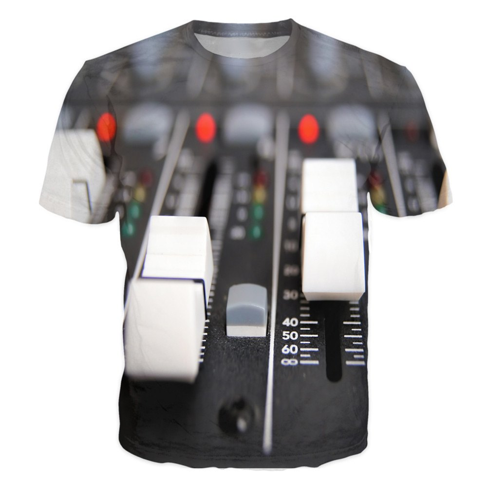 T-shirt - In Studio Sound Editor Dj 3D T-Shirt